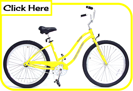 woman's beach bike, beach cruiser, fat tire bicycles, sand bicycle, balloon tire bicycle